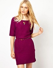 Darling Lightweight Knitted Dress With Belt