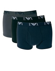 Emporio Armani 3 Pack Trunks Fashion