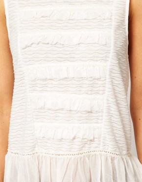 Image 3 ofFree People Cotton Sleeveless Blouse with Peplum Detail