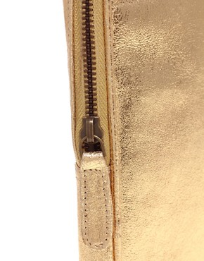 Image 2 ofASOS Leather Metallic Laptop Case