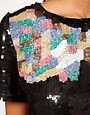 Image 3 ofASOS Embellished T-Shirt With Mosaic Beading
