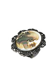 Oasis Shell Cameo Ring