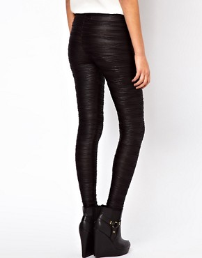 Image 2 ofASOS Leggings in Pleat Effect