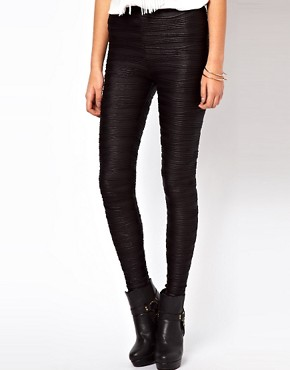 Image 4 ofASOS Leggings in Pleat Effect