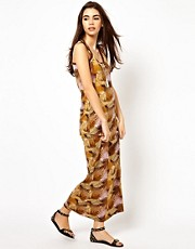 Bellfield Palm Print Maxi Dress
