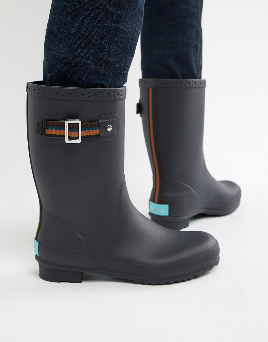 Paul Smith - Krupa - Gummistiefel mit Streifen in Marine - Navy | Schuhe > Gummistiefel | Navy | Paul Smith