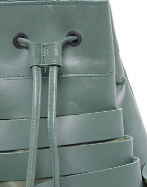 Image 4 ofASOS Leather Slash Detail Duffel Bag