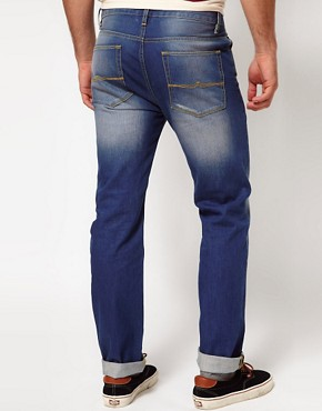 Image 2 ofASOS Straight Jeans With Distressed Effect