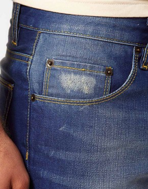 Image 3 of ASOS Straight Jeans With Distressed Effect