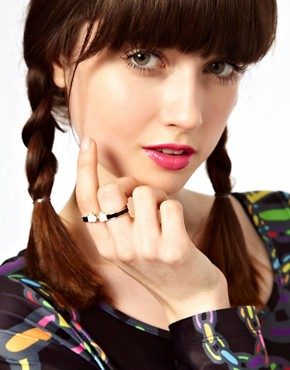 Image 3 ofLazy Oaf Spaghetti Hands Double Finger Ring