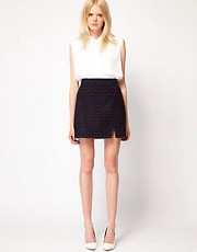 Boutique by Jaeger Maragret Spot Skirt