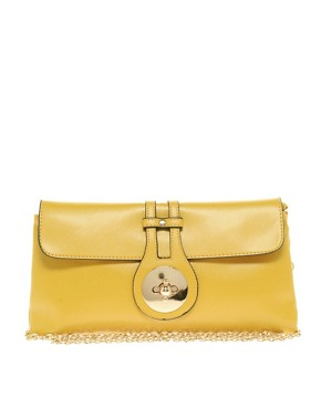 Image 1 ofJohnny Loves Rosie Gold Clasp Clutch