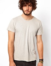Camiseta bsica con cuello redondo de Nudie