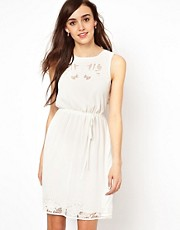 Warehouse Cutwork Top and Hem Dress