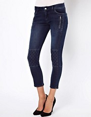 Vanessa Bruno Ath Indigo Cropped Biker Jeans