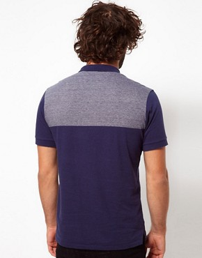 Image 2 ofPaul Smith Jeans Polo Shirt with Contrast Shoulders and Pocket