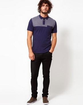 Image 4 ofPaul Smith Jeans Polo Shirt with Contrast Shoulders and Pocket