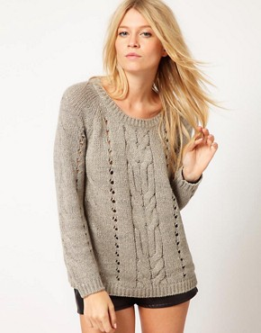 Image 1 ofOasis Aran Jumper