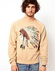 Denim &amp; Supply By Ralph Lauren Sweat Top with Indian Head Print