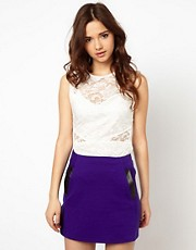 River Island Cut Out Lace Top