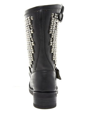 Image 2 ofAsh Trash Mid Stud Biker Boots