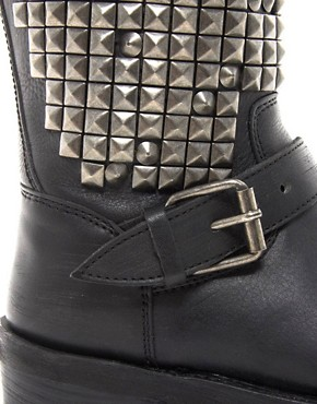 Image 3 ofAsh Trash Mid Stud Biker Boots