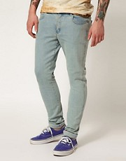 Afends Jeans Junky Skinny Fit Bleach Wash