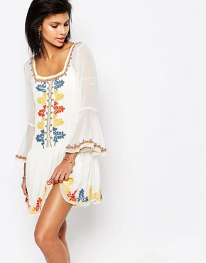 Tularosa Creseda Embroidered Dress
