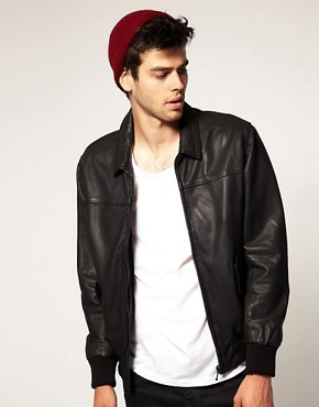 Image 1 ofLevis Leather Bomber Jacket