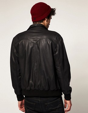 Image 2 ofLevis Leather Bomber Jacket