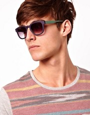 ASOS Square Wayfarer with Contrast Colour
