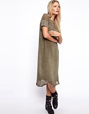 ASOS Midi Dress with Woven And Jersey Panels