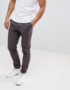 ASOS Skinny Chinos In Washed Black