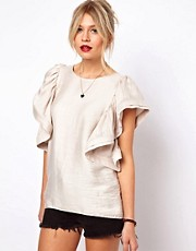 ASOS Shell Top with Dramatic Ruffle Sleeves