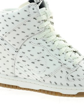 Image 2 ofNike Dunk Sky High Top White Wedge Trainers
