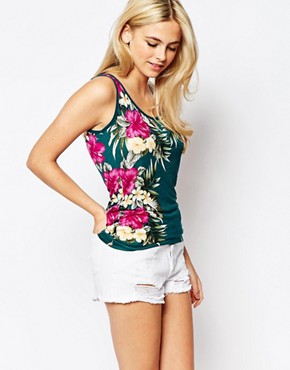 Oasis Tropical Printed Vest
