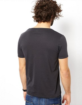 Image 2 ofASOS T-Shirt With Bound Scoop Neck