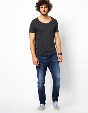 Image 4 ofASOS T-Shirt With Bound Scoop Neck