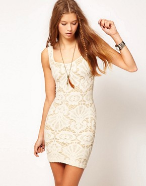 Image 1 ofFree People Medallion Bodycon Dress