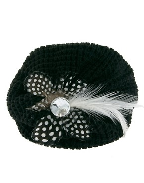 Image 3 ofJohnny Loves Rosie Woolen Feather Beret Hairband