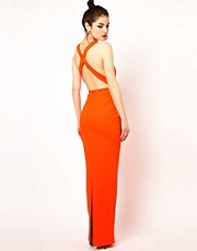 Aqua Concept Maxi Dress With Cross Open Back