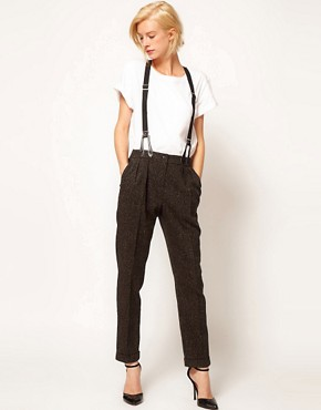 Image 1 ofASOS Peg Trousers With Braces