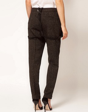 Image 2 ofASOS Peg Trousers With Braces