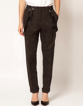 Image 4 ofASOS Peg Trousers With Braces