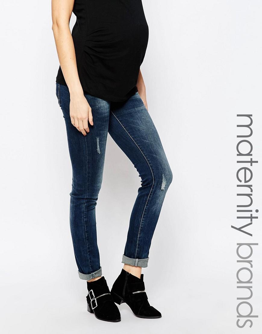 Mamalicious Straight Leg Maternity Jeans