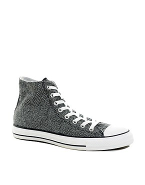 Image 1 ofConverse All Star Herringbone High Top Trainers