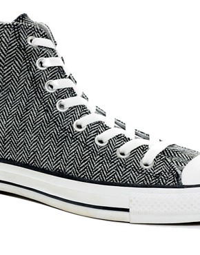 Image 2 ofConverse All Star Herringbone High Top Trainers