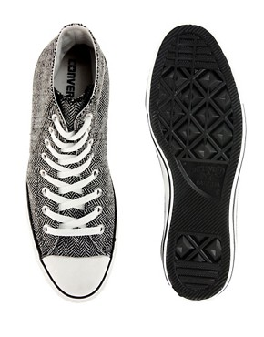 Image 3 ofConverse All Star Herringbone High Top Trainers