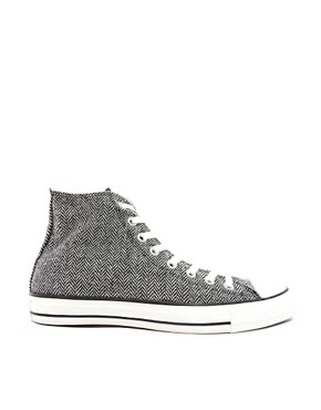 Image 4 ofConverse All Star Herringbone High Top Trainers