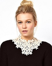 ASOS Lace Pearl Bib Necklace